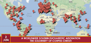 A worldwide solemn Eucharistic Adoration