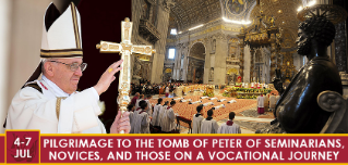 Pilgrimage to the Tomb of Peter of Seminarians, Novices and those on a Vocational Journey