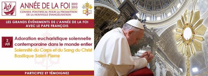 Première mondiale : Le 2 juin 2013 Adoration Eucharistique dans le monde entier, en union avec le pape François. 1369215316920.jpg